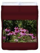 Cone Flower And Bee Duvet Cover