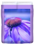 Cone Flower In Pastels  Duvet Cover