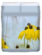 Coneflower And Bee 2  Duvet Cover