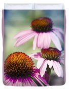 Coneflower Jewel Tones - Echinacea Duvet Cover