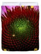 Coneflower - Little Yellow Spider Duvet Cover