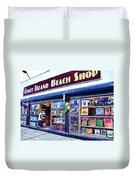 Coney Island Beach Shop Duvet Cover