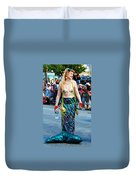 Coney Island Mermaid Duvet Cover