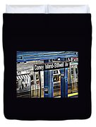 Coney Island Train Station Duvet Cover