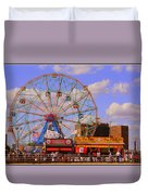 Coney Island Wonder Wheel Duvet Cover