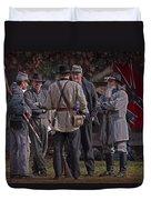 Confederate Civil War Reenactors With Rebel Confederate Flag Duvet Cover
