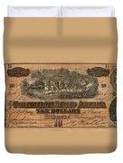 Confederate Ten Dollars Duvet Cover