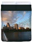 Congress Avenue Bats Duvet Cover