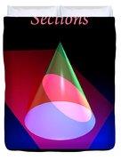 Conic Section Ellipse Poster Duvet Cover
