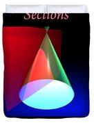 Conic Section Hyperbola Poster Duvet Cover