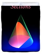 Conic Sections Parabola Poster 6 Duvet Cover