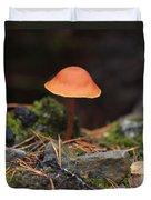 Conical Wax Cap Mushroom Duvet Cover