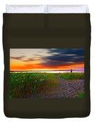 Conimicut Point Beach Rhode Island Duvet Cover