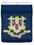 Connecticut State Flag Duvet Cover by Pixel Chimp