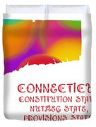 Connecticut State Map Collection 2 Duvet Cover