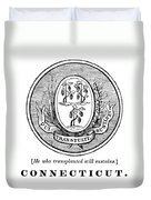 Connecticut State Seal Duvet Cover