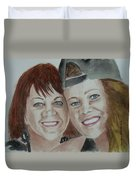 Connie And Jordanna Duvet Cover
