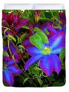 Constance's Clematis Duvet Cover