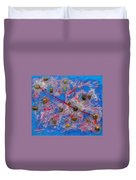Constellation Of Aries Duvet Cover by Augusta Stylianou