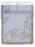 Construct Number Four Duvet Cover