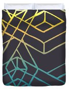 Construct Number Three Duvet Cover