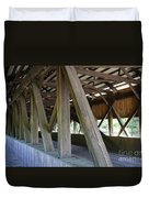 Construction Under The Roof - Jackson Covered Bridge Nh Duvet Cover