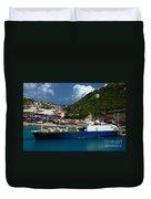 Container Ship St Maarten Duvet Cover