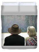 Contemplating Art Duvet Cover