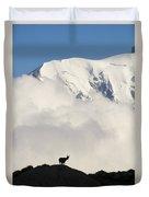 Contemplating Mont Blanc Duvet Cover
