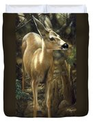 Mule Deer - Contemplation Duvet Cover by Crista Forest