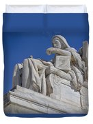 Contemplation Of Justice 1 Duvet Cover