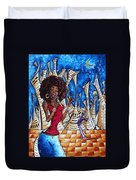 Contemporary New Orleans Jazz Blues Original Painting Singin In The Streets Duvet Cover