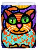 Contented Cat Duvet Cover