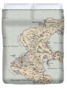 Continent Of Verme Duvet Cover