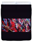 Continuum Iv Red Sky Duvet Cover