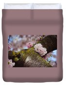 Contrast 1. Pink Spring In Amsterdam Duvet Cover
