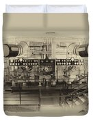 Control Board Engine Room Queen Mary Ocean Liner Long Beach Ca Heirloom Duvet Cover