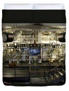 Control Board Engine Room Queen Mary Ocean Liner Long Beach Ca Duvet Cover