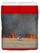 Controlled Burn And Brush Truck Duvet Cover