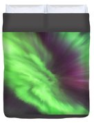 Converging Curtains Of Aurora Duvet Cover