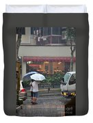 Conversation In The Rain Duvet Cover