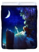 Conversation With The Moon Duvet Cover