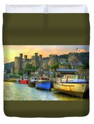 Conwy Castle And Harbour Duvet Cover
