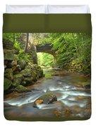 Cook Forest Stream Under The Bridge Duvet Cover