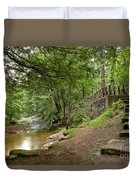 Cook Forest Toms Run Steps Duvet Cover