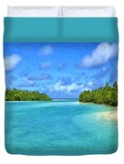 Cook Islands Lagoon Duvet Cover
