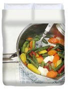 Cooked Mixed Vegetables Duvet Cover