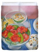 Cookies And Camellias Duvet Cover