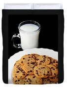 Cookies - Milk - Chocolate Chip - Baker Duvet Cover by Andee Design