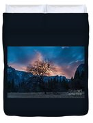Cooks Meadow Oak At Sunset Duvet Cover